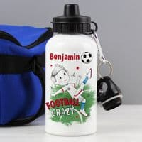 Personalised Football Crazy Drinks Bottle - ideal gift for birthday, Back to School